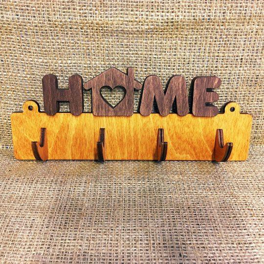 "Ключница из дерева настенная ""Home"" (арт. 50106)"