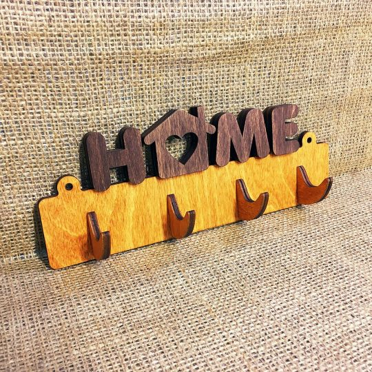Ключница из дерева настенная «Home» (арт. 50106)