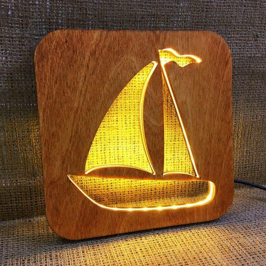Ночник детский из дерева «Кораблик» (арт. 50736)