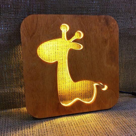 Ночник детский из дерева «Жирафик» (арт. 50724)