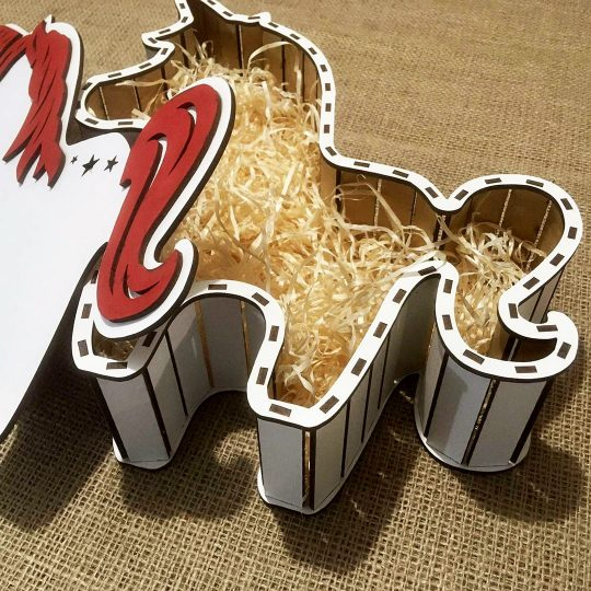 "Подарочная коробка из дерева ""Единорог"" (арт. 50431)"