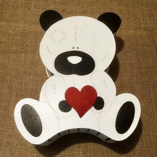 Подарочная коробка из дерева «Мишка с сердцем» (арт. 50432)