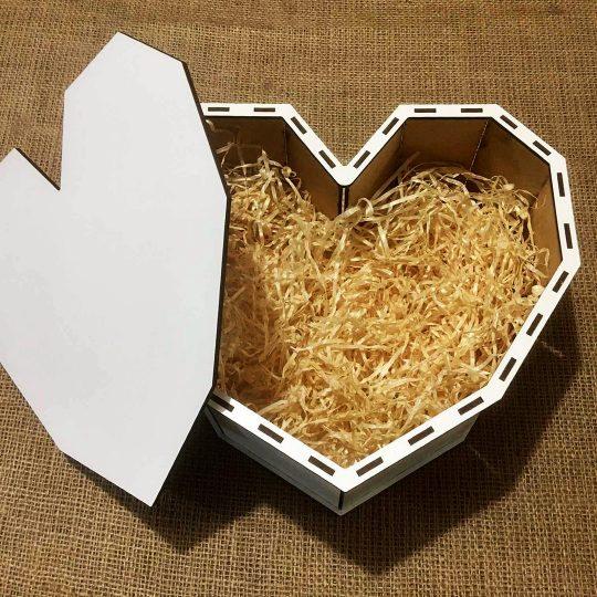 "Подарочная коробка из дерева ""Сердце"" (арт. 50436)"